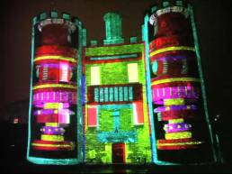 Building Projection Lighting - Street Rhythms 2012